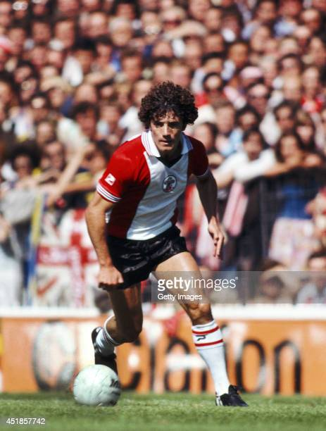 Southampton player Kevin Keegan in action on his home debut against Manchester City during a Division One match at the Dell on August 16, 1980 in...