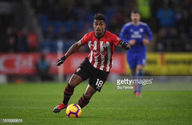 Southampton player Mario Lemina in action during the Premier League match between Cardiff City and Southampton FC at Cardiff City Stadium on December...