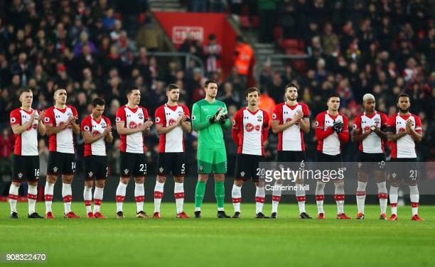 Southampton players remember exfootballer Cyrille Regis who passed away earlier this week prior to the Premier League match between Southampton and...
