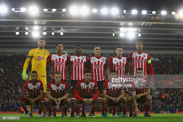 Southampton starting line up during the UEFA Europa League match between Southampton FC and FC Internazionale Milano at St Mary's Stadium on November...