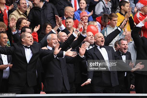 Southampton supporters dressed in black tie apparel during the npower Championship match between Southampton and Coventry City at St Mary's Stadium...