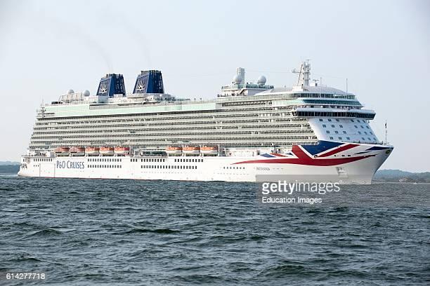Southampton Water England Uk The PO Cruise Ship Britannia Underway on Southampton Water Southern England Uk