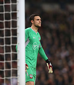 london england southamptons alex mccarthy during