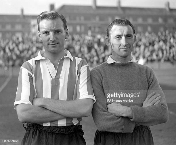 Southampton's Bill Ellerington and goalkeeper John Christie