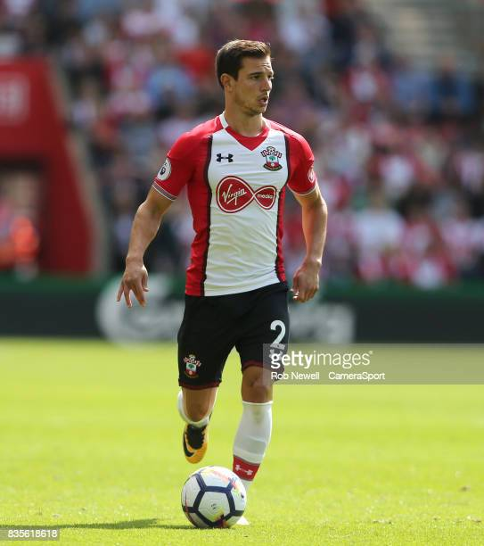 Southampton's Cedric Soares during the Premier League match between Southampton and West Ham United at St Mary's Stadium on August 19 2017 in...