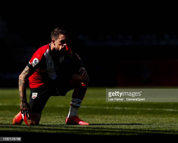 Southampton's Danny Ings gets up after having a header cleared off the line during the Premier League match between Southampton and Burnley at St...