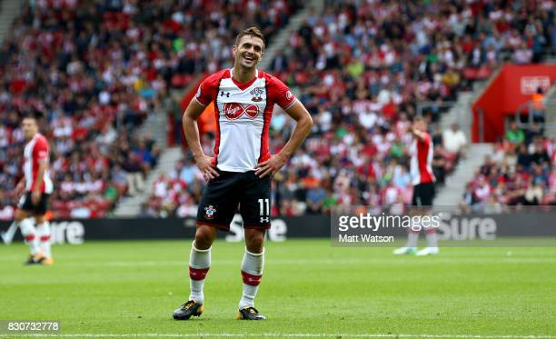 Southampton's Dusan Tadic during the Premier League match between Southampton and Swansea City at St Mary's Stadium on August 12 2017 in Southampton...
