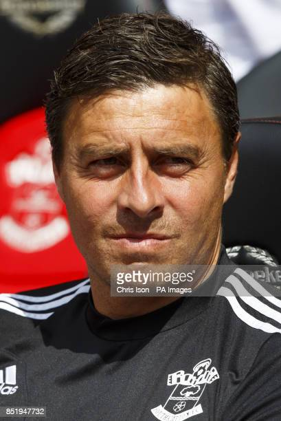 Southampton's first coach Miguel d'Agostino before the Preseason Friendly at St Mary's Stadium Southampton