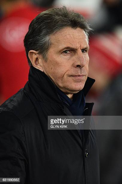 Southampton's French manager Claude Puel looks on ahead of the English FA Cup third round replay football match between Southampton and Norwich City...