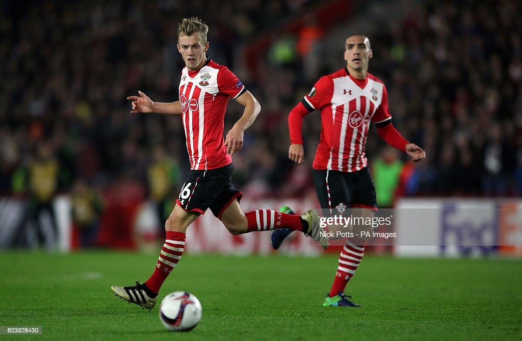 Southampton's James Ward-Prowse (left) and Oriol Romeu