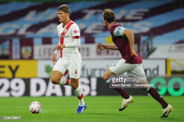 Southampton's Jannik Vestergaard during the Premier League match between Burnley and Southampton at Turf Moor on September 26 2020 in Burnley United...