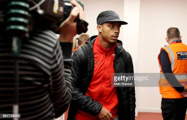 Southampton's Mario Lemina arrives ahead of the Premier League match between AFC Bournemouth and Southampton at the Vitality Stadium on December 3...
