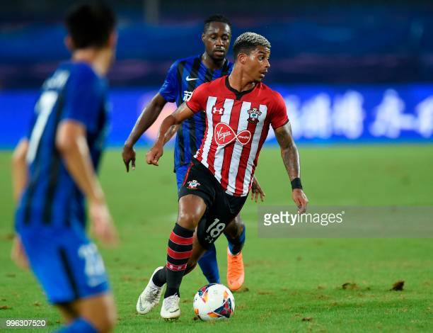 Southampton's Mario Lemina chases the ball during the 2018 CSC International Football Club Super Cup football match between English Premier League...