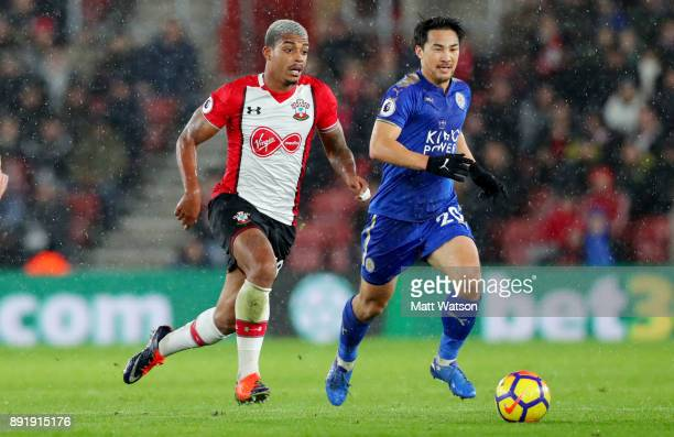 Southampton's Mario Lemina during the Premier League match between Southampton and Leicester City at St Mary's Stadium on December 13 2017 in...