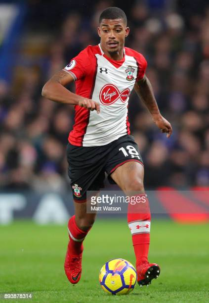 Southampton's Mario Lemina during the Premier League match between Chelsea and Southampton at Stamford Bridge on December 16 2017 in London England