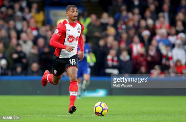 Southamptonâs Mario Lemina during the Premier League match between Chelsea and Southampton at Stamford Bridge on December 16 2017 in London England