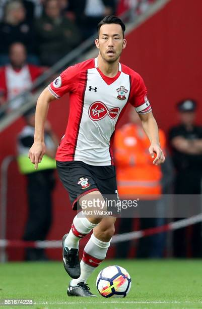Southampton's Maya Yoshida during the Premier League match between Southampton and Newcastle United at St Mary's Stadium on October 15 2017 in...