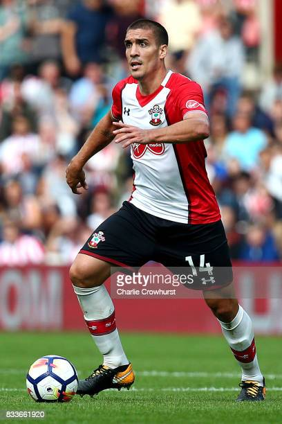 Southampton's Oriol Romeu during the Premier League match between Southampton and Swansea City at St Mary's Stadium on August 12 2017 in Southampton...