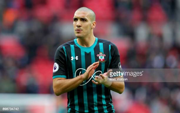 Southampton's Oriol Romeu during the Premier League match between Tottenham Hotspur and Southampton at Wembley Stadium on December 26 2017 in London...