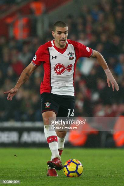 Southampton's Oriol Romeu in action during during the Premier League match between Southampton and Crystal Palace at St Mary's Stadium on January 2...