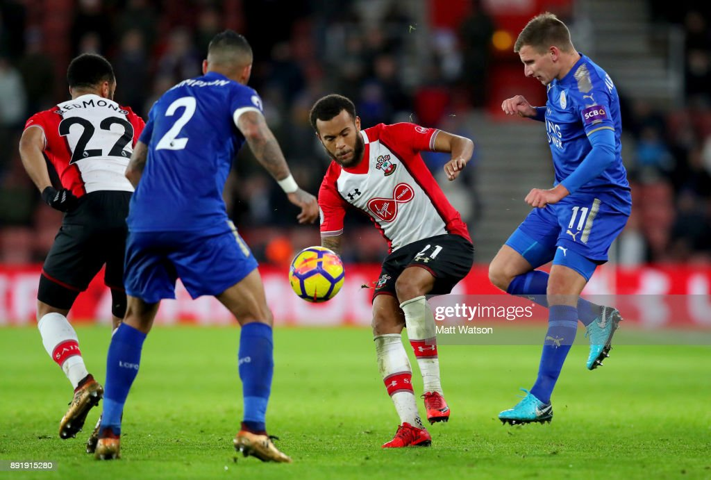 Southampton's Ryan Bertrand during the Premier League match between Southampton and Leicester City at St Mary's Stadium on December 13, 2017 in Southampton, England.