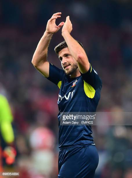Southampton's Shane Long applauds the fans after the game