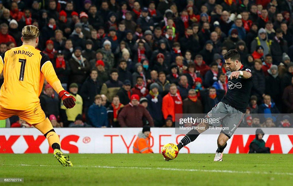 Liverpool v Southampton - EFL Cup - Semi Final - Second Leg - Anfield : News Photo