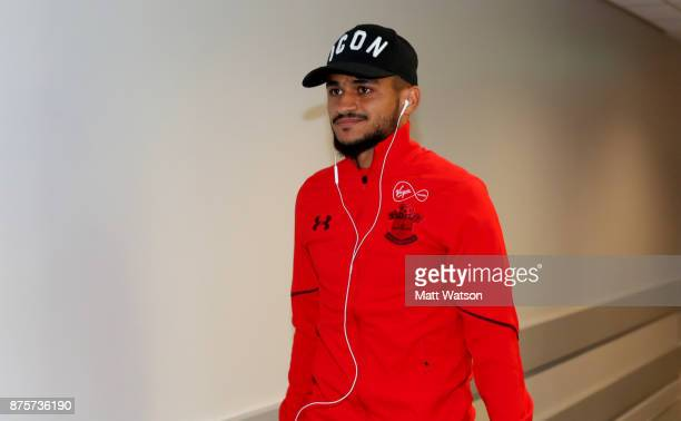 Southampton's Sofiane Boufal ahead of the Premier League match between Liverpool and Southampton at Anfield on November 18 2017 in Liverpool England