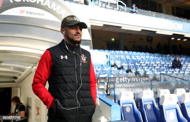 Southampton's Sofiane Boufal ahead of the Premier League match between Chelsea and Southampton at Stamford Bridge on December 16 2017 in London...