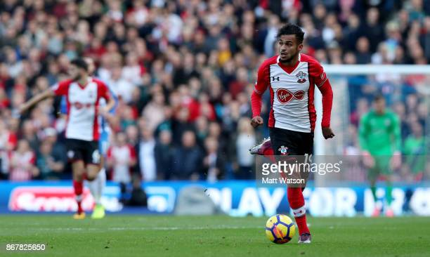 Southampton's Sofiane Boufal during the Premier League match between Brighton and Hove Albion and Southampton at the Amex Stadium on October 28 2017...
