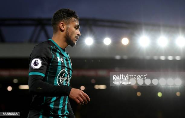 Southampton's Sofiane Boufal during the Premier League match between Liverpool and Southampton at Anfield on November 18 2017 in Liverpool England