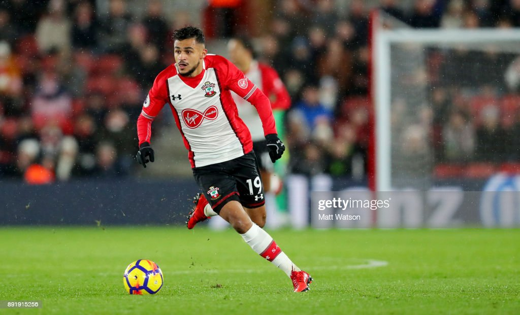 Southampton's Sofiane Boufal during the Premier League match between Southampton and Leicester City at St Mary's Stadium on December 13, 2017 in Southampton, England.