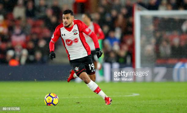 Southampton's Sofiane Boufal during the Premier League match between Southampton and Leicester City at St Mary's Stadium on December 13 2017 in...