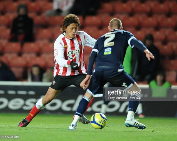 Southampton's Tadanari Lee and Millwall's Alan Dunne