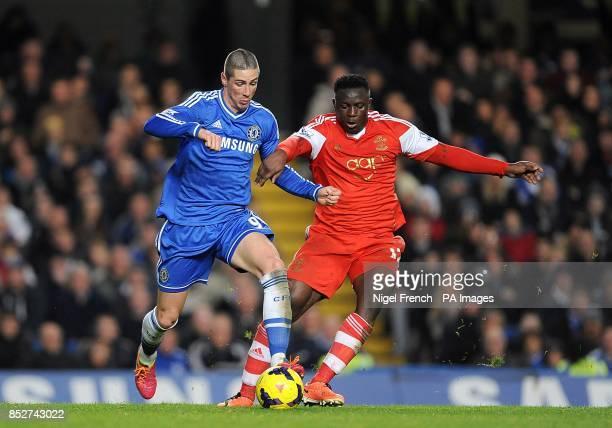 Southampton's Victor Wanyama and Chelsea's Fernando Torres