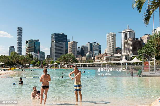 Southbank parklands beach in Brisbane