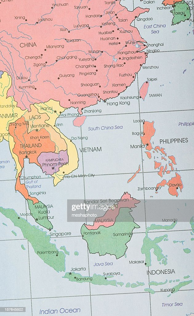 Southeast asia map stock photo getty images southeast asia map stock photo publicscrutiny Gallery