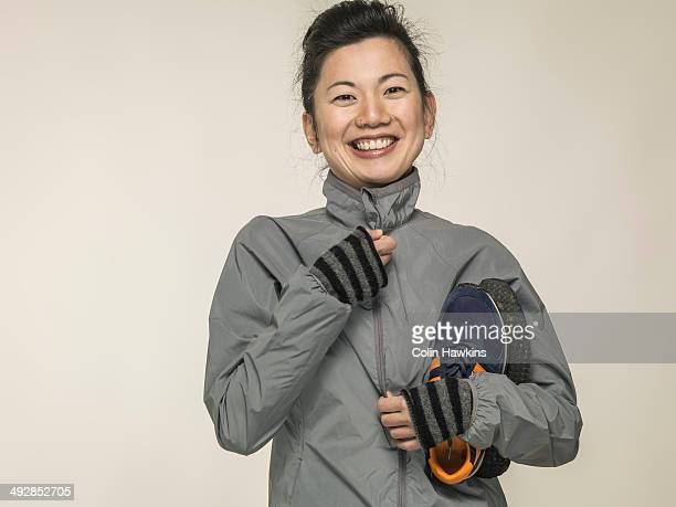 southeast asian woman with sports wear - posing shoes stock pictures, royalty-free photos & images