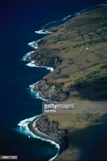 southeast coast of sint eustatius - sint eustatius stockfoto's en -beelden
