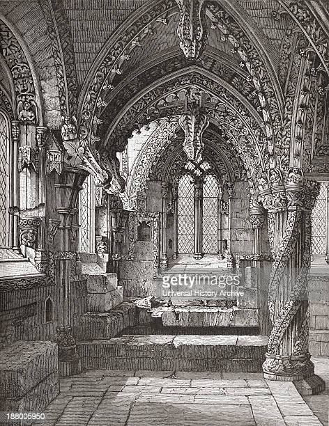 SouthEast Corner Of Lady Chapel Rosslyn Roslin Midlothian Scotland As It Was In The 19Th Century From The Book Short History Of The English People By...