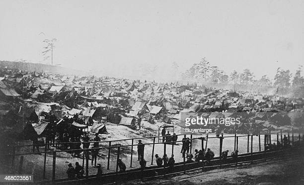 Southeast view of stockade at Andersonville Prison Andersonville Virginia August 17 1864