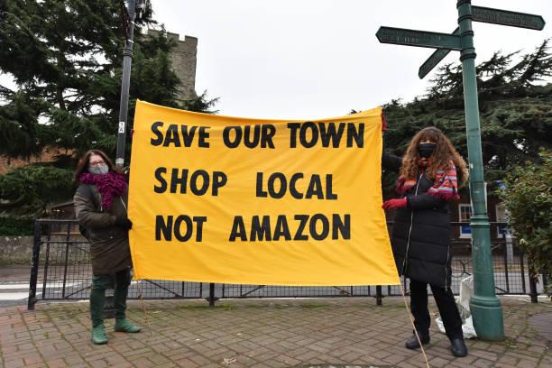 GBR: Extinction Rebellion Protest Amazon's Black Friday