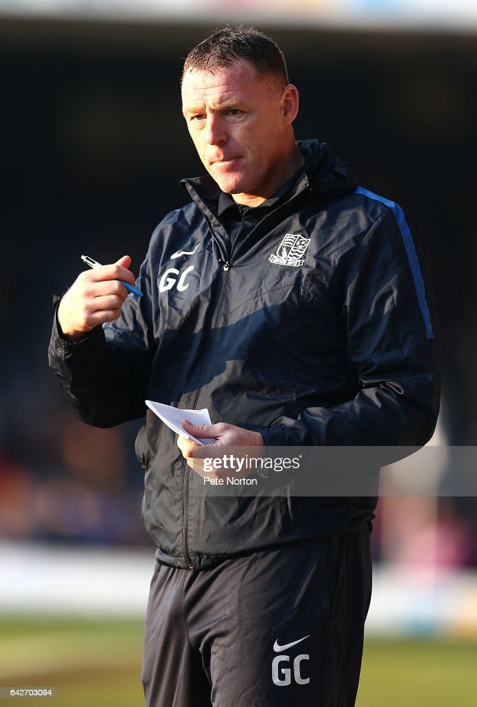 Southend United assistant manager Graham Coughlan looks on during the Sky Bet League One match between Southend United and Northampton Town at Roots Hall on February 18, 2017 in Southend, England.