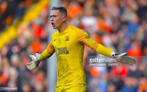 Southend United goalkeeper Nathan Bishop Blackpool v Southend United Sky Bet League One Bloomfield Road
