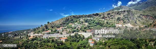 southern albanian coast (xxxl) - albanië stockfoto's en -beelden