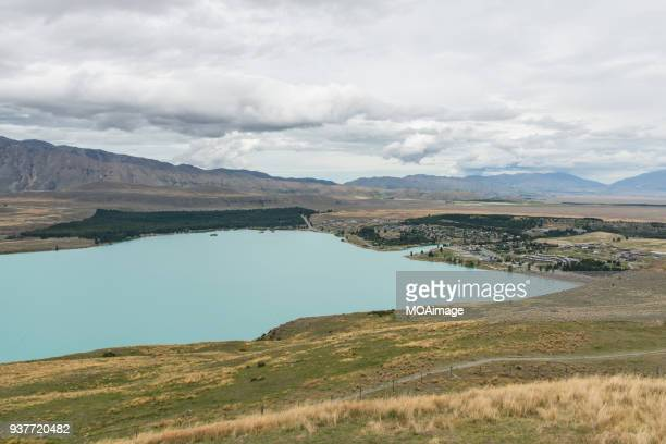 Southern Alps in background, Lake Tekapo, Mackenzie Country, South Island, New Zealand