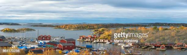 southern archipelago of gothenburg - fishing village stock pictures, royalty-free photos & images