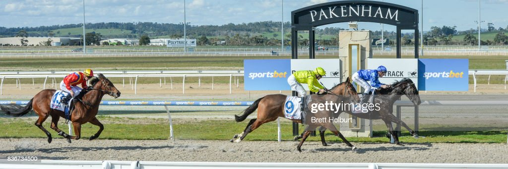 Southern Bolt (NZ) ridden by Beau Mertens wins the Racing.com SV 3YO Maiden Plate at Racing.com Park Synthetic Racecourse on August 22, 2017 in Pakenham, Australia.