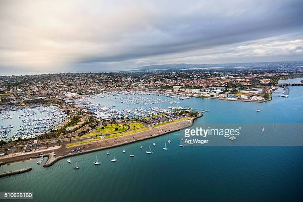 southern california bay and marina - san diego - emergency shelter stock pictures, royalty-free photos & images