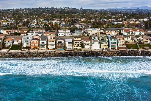 Southern California Oceanfront Neighborhood From Above 510158210